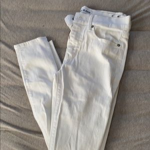 Express white ripped jeans